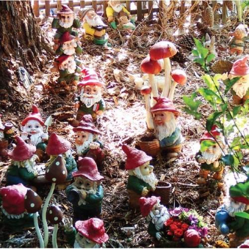 Chú lùn – thần giữ của & nghệ phẩm trang trí vườn tược