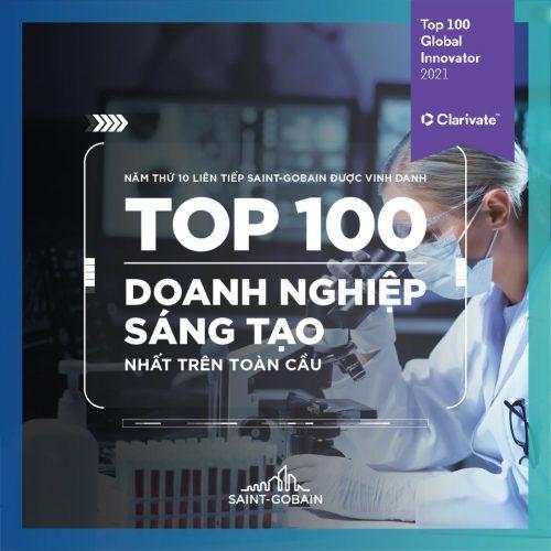 SAINT-GOBAIN 10 NĂM LIÊN TIẾP ĐƯỢC VINH DANH TOP 100 DOANH NGHIỆP SÁNG TẠO HÀNG ĐẦU THẾ GIỚI