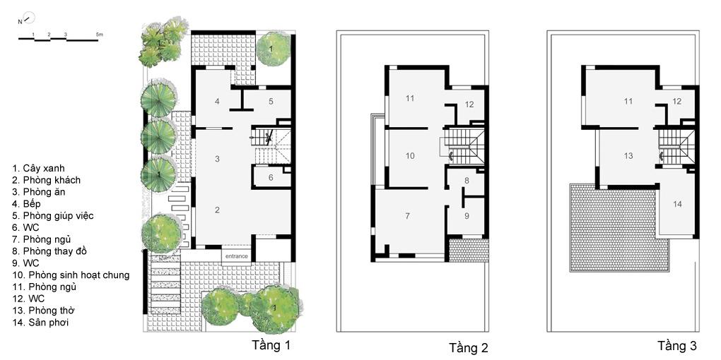 """Mat bang hien trang1 - Ngôi nhà thiết kế với chủ đề: """"Biệt thự Vườn Tùng"""""""